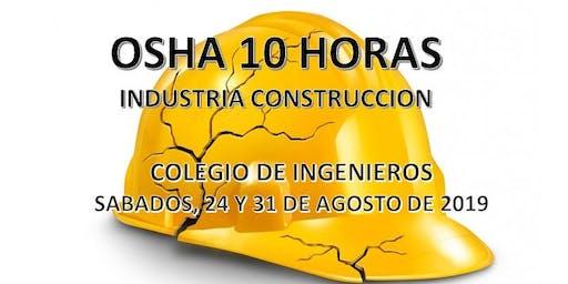 OSHA 10 Horas Industria de Construccion (SABADOS)