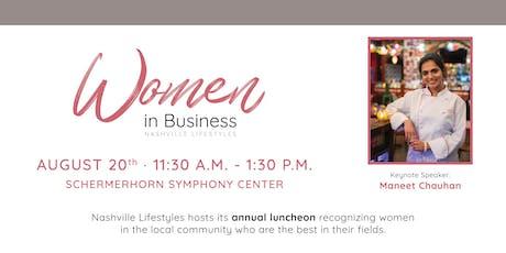 Women in Business: presented by Nashville Lifestyles Magazine tickets