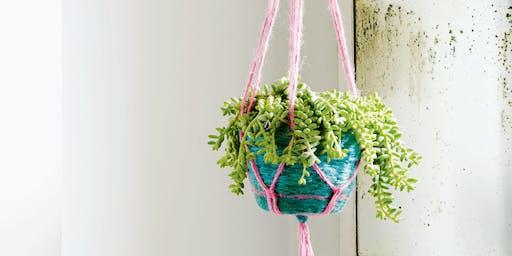 Twine Basket with Plant Hanger Workshop