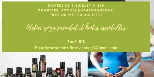 Yoga prénatal et huiles essentielles