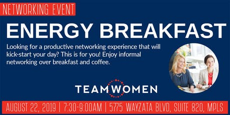 Energy Breakfast Networking with TeamWomen - August tickets