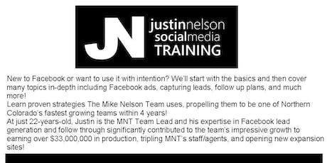 Justin Nelson Social Media Training tickets