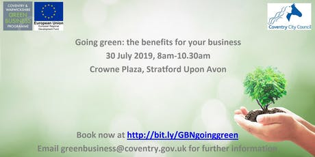 Going green: the benefits for your business tickets