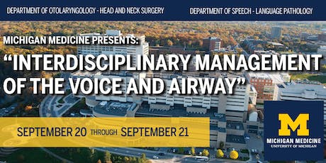 Interdisciplinary Management of the Voice and Airway tickets