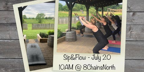 Sip and Flow:  Yoga at 8 Chains North Winery tickets