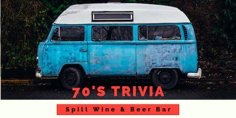 TRIVIA NIGHT-The 70's tickets