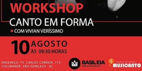 WORKSHOP Canto em Forma - com Vivian Veríssimo ingressos