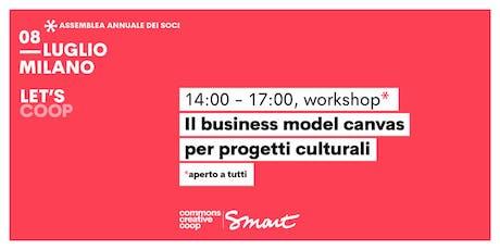 Il business model canvas per progetti culturali / Let's coop - Smart biglietti