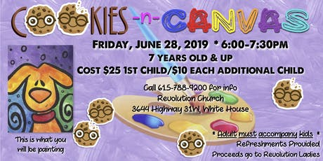 Cookies -n- Canvas tickets