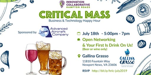 Critical Mass Happy Hour (Peninsula) - July 18th, 2019