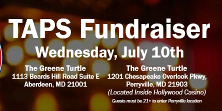Greene Turtle TAPS Fundraiser