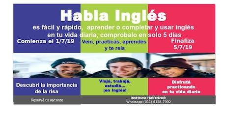 Aprende, completa y usa tu inglés en 5 días, con alegría, sin deberes entradas