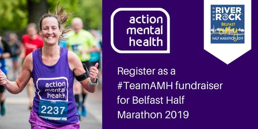 Register as a fundraiser for AMH at the Belfast City Half Marathon 2019