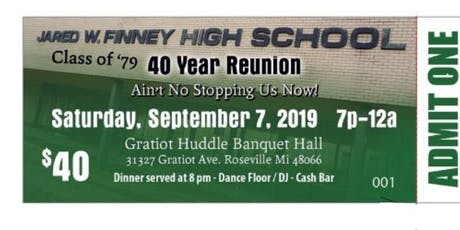 Finney Class of 79 40 year reunion tickets