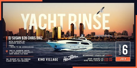 Yacht Rinse - San Diego Yacht Party tickets