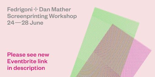 Fedrigoni Plus Dan Mather Screenprinting Workshop