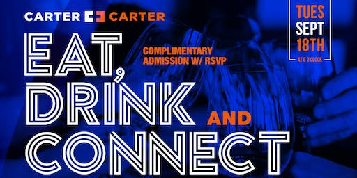 Eat, Drink, Connect Houston with The Carter Brothers - 9/10