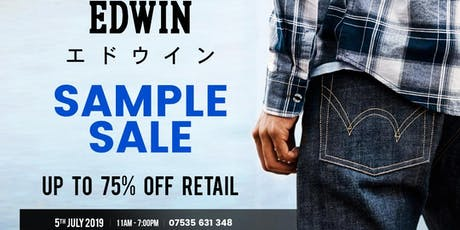 EDWIN SAMPLE SALE AND WAREHOUSE CLEARANCE  tickets