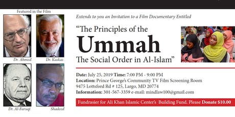 """The Principles of the Ummah - The Social Order in Al-Islam"" tickets"