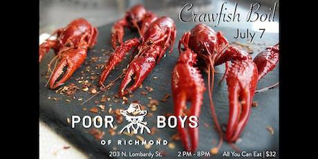 Poor Boys Crawfish Boil tickets