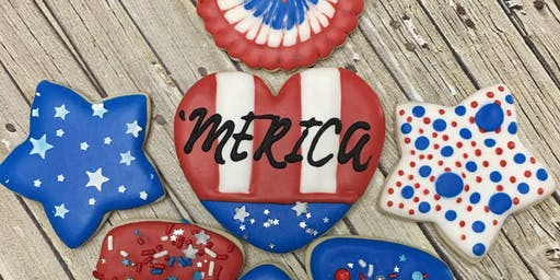 Friday 6.28 Beginners Decorating Class Fourth of July Cookie