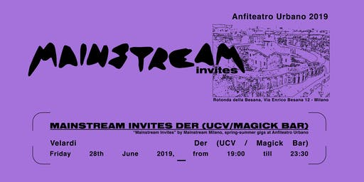 Anfiteatro Urbano // with DER (Ucv /The Magick Bar)
