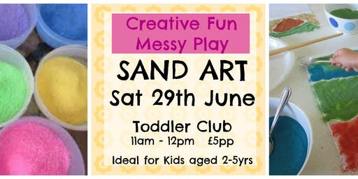 Sand Art - Crafty Toddler Club