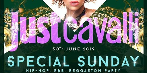 Just Cavalli Milano - Domenica 30 Giugno 2019 - Special Hip Hop Sunday - Aperitivo E Serata - Omaggio donna - Lista Miami - Liste E Tavoli Al 338-7338905