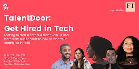 TalentDoor: Get Hired in Tech tickets