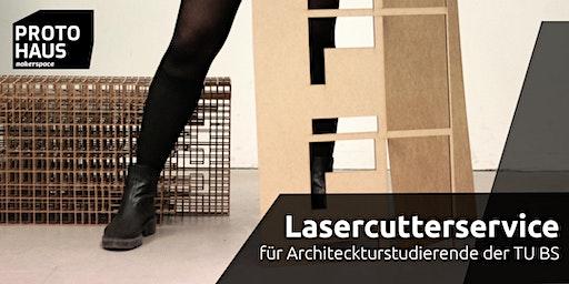 Lasercutterservice für Architekturstudierende der TU BS