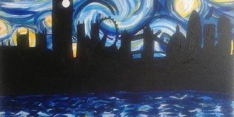 Paint Starry Night over London + Wine! London Bridge, Thursday 5 September tickets
