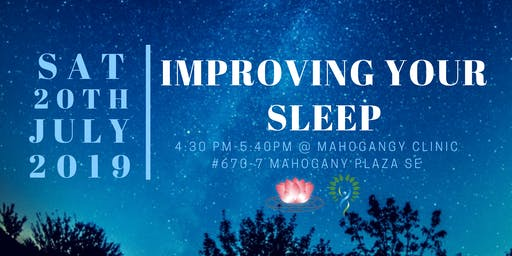 Improving your Sleep