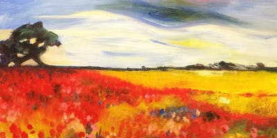 Poppy Fields Paint and Sip