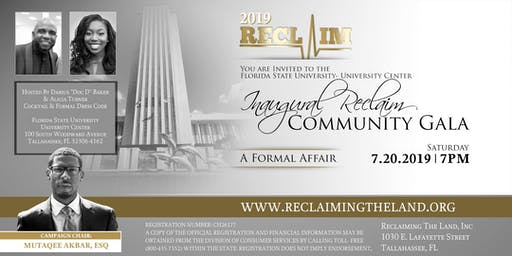 Inaugural Reclaim Community Gala (A Formal Affair)