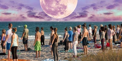 Full Moon Beach Yoga Delray Beach