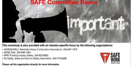SAFE Committee Basics - Brandon, MB tickets