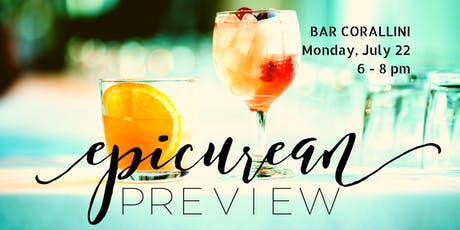 Epicurean Evening Preview @Bar Corallini tickets