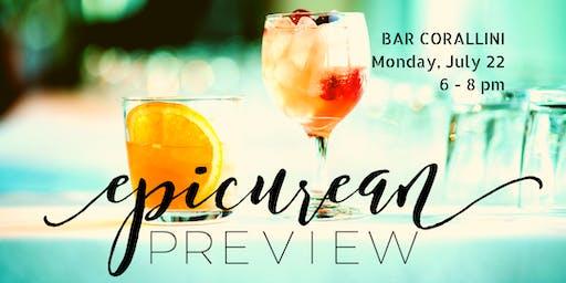 Epicurean Evening Preview @Bar Corallini