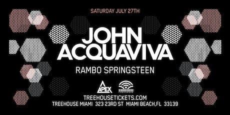 John Acquaviva @ Treehouse Miami tickets