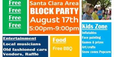 Santa Clara Area BLOCK PARTY
