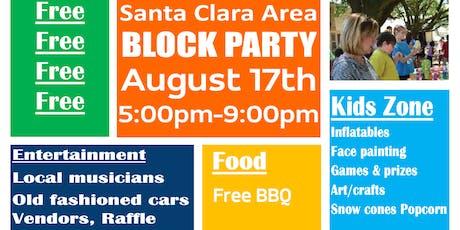 Santa Clara Area BLOCK PARTY tickets