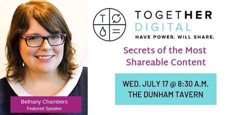 TogetherDigital Cleveland July Member Meetup: Secrets of the Most Shareable Content tickets
