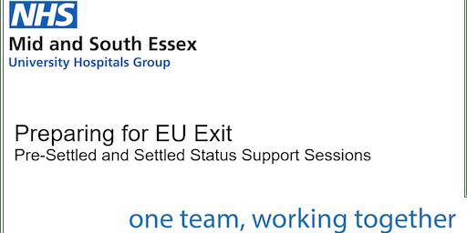 Settled Status Support Session - Broomfield Hospital