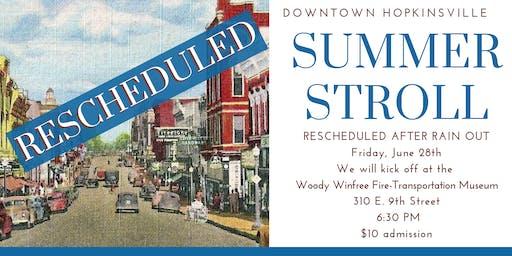Rescheduled Summer Stroll Downtown Walking Tour