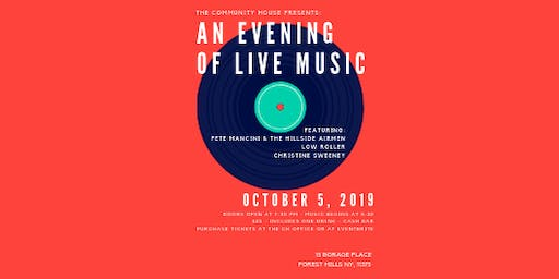 The Community House Presents: An Evening Of Live Music