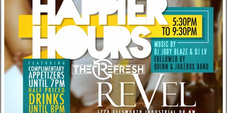 After the work-week, enjoy The ReFRESH @ REVEL! Live Music·Amazing Food·DJs tickets