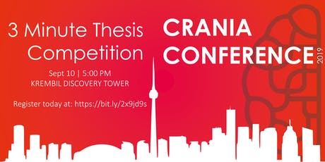 CRANIA Conference - 3 Minute Thesis Competition tickets