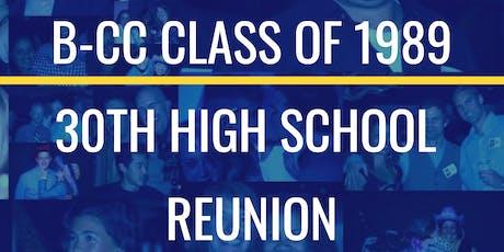 B-CC Class of 1989 30th High School Reunion tickets