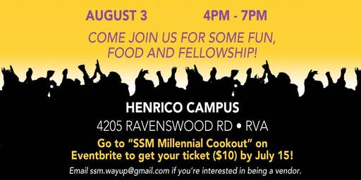 SSM Millennials Cook Out (FOR AGES 18-35)