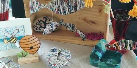 Fabrication d'objets en matières recyclées billets